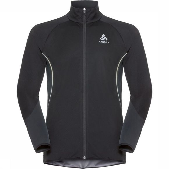 Odlo Zeroweight Windproof Reflect Warm Jas Zwart/Middengrijs
