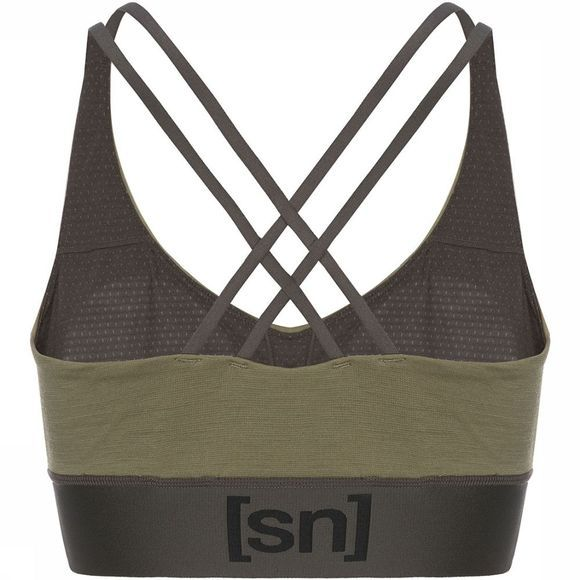 Supernatural Motion Yoga Top Dames Lichtbruin/Donkerkaki