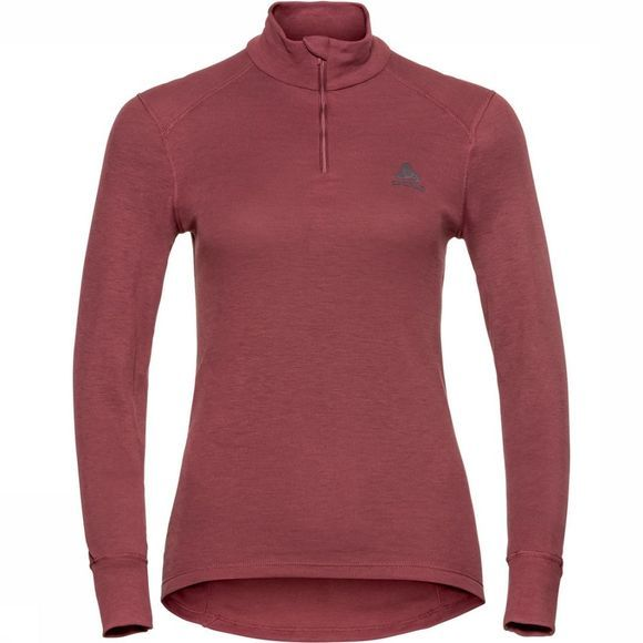 Odlo Turtle Neck Shirt Dames Rood