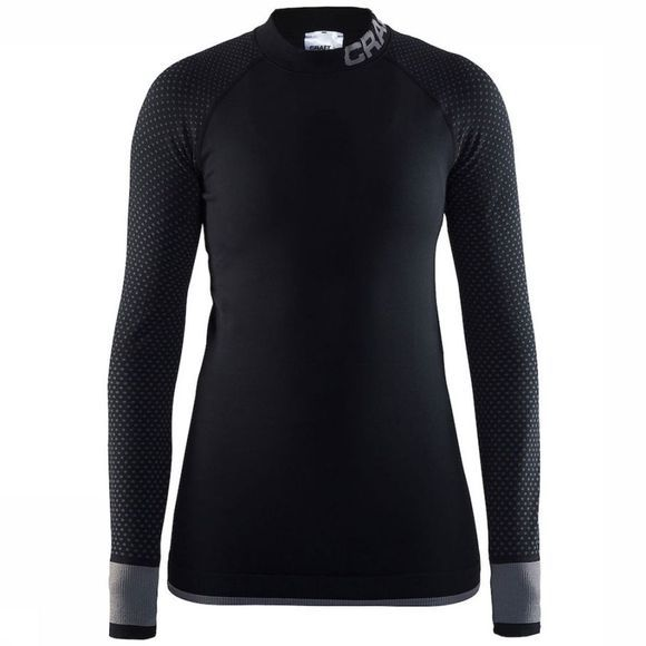 Craft Warm Intensity CN Shirt Dames Zwart/Donkergrijs