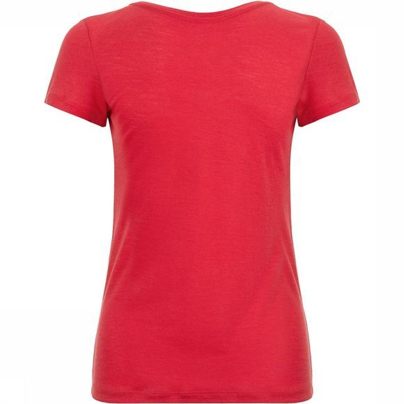 Supernatural V Neck T-Shirt Dames Fuchsia/Rood