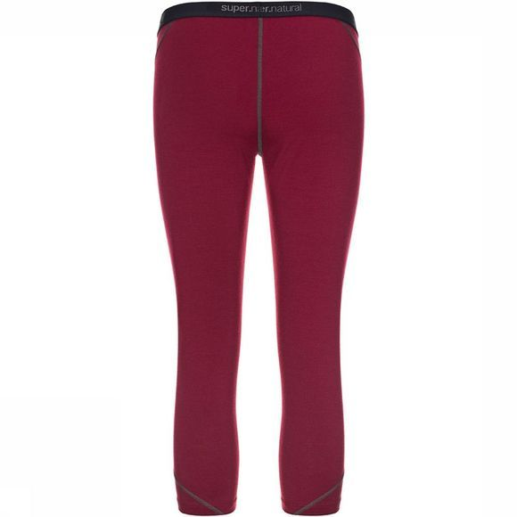 Supernatural Base 3/4 230 Legging Dames Bordeaux/Donkergrijs