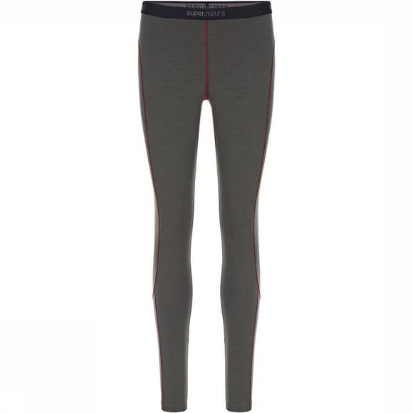 Supernatural Base 230 Legging Dames Donkergrijs/Bordeaux