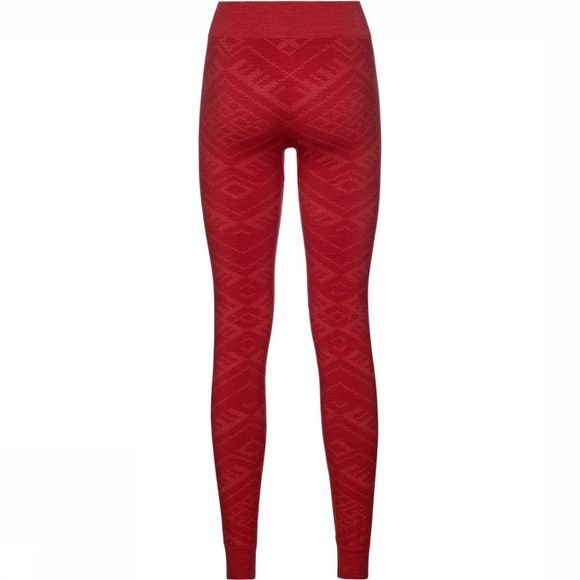 Odlo Natural + Kinship Warm Legging Dames Rood