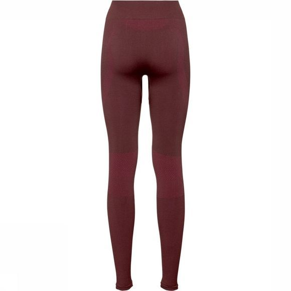 Odlo Performance Warm Legging Dames Donkerbruin/Donkerroze