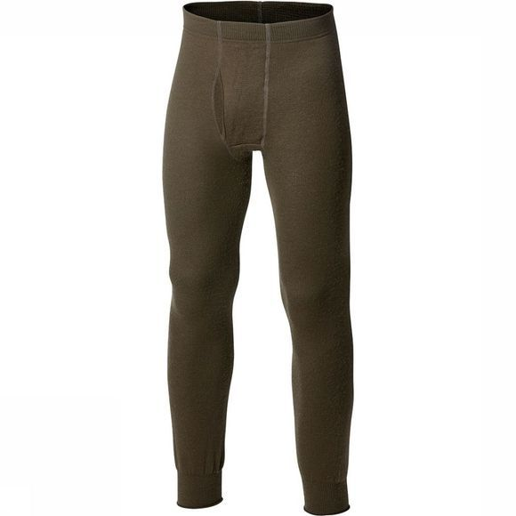 Woolpower Long Johns With Fly 400 Donkergroen