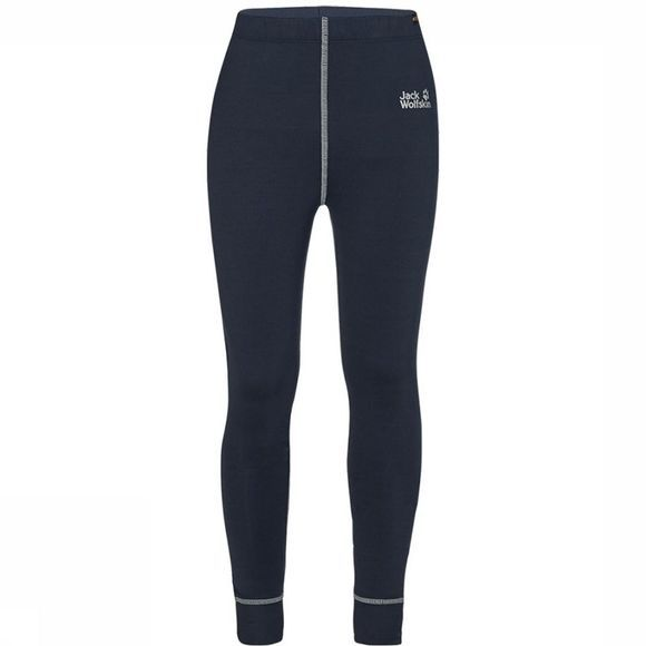 Jack Wolfskin Dry 'N Cosy Tight Junior Donkerblauw/Middenblauw
