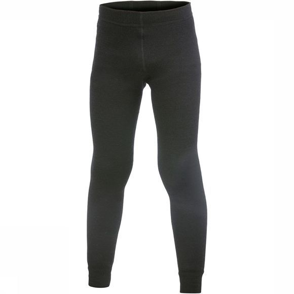 Woolpower Long John 200 Broek Junior Zwart