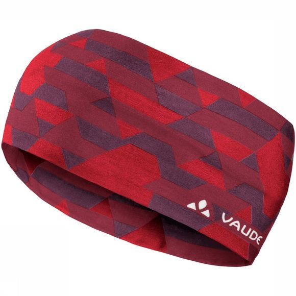 Vaude Haarband Cassons Donkerrood/Assortiment Geometrisch