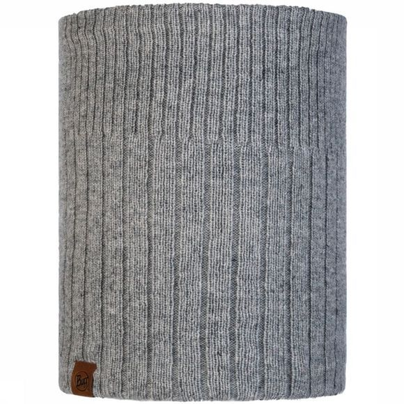 Buff Knitted & Polar Neckwarmer Kort Light Grey Middengrijs