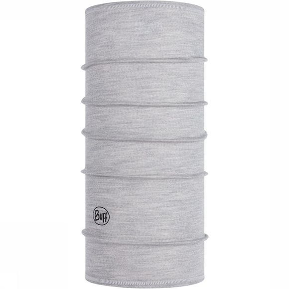 Buff Lightweight Merino Wool Solid Light Grey Lichtgrijs