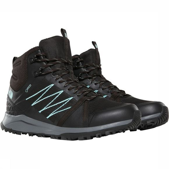 The North Face Litewave Fastpack II Mid GTX Schoen Dames Zwart/Turkoois