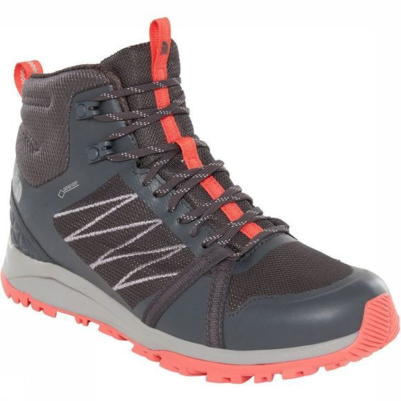 The North Face Litewave Fastpack II Mid GTX Schoen Dames Donkergrijs/Rood