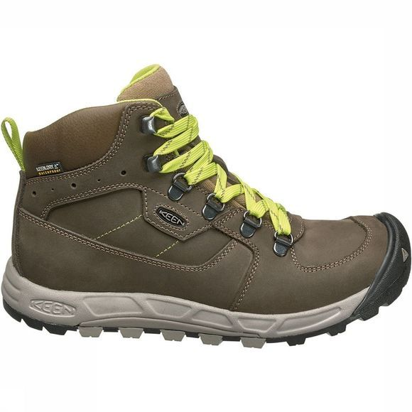 Keen Westward Mid Leather WP Schoen Dames Bruin/Geel
