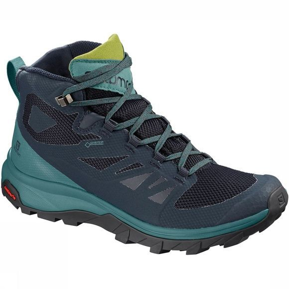 Salomon Outline Mid GTX Schoen Dames Marineblauw