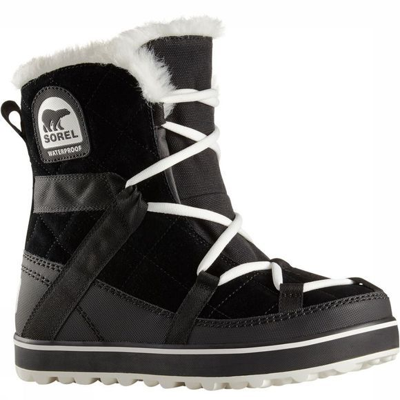 Sorel Glacy Explorer Shortie Winterlaars Dames Zwart