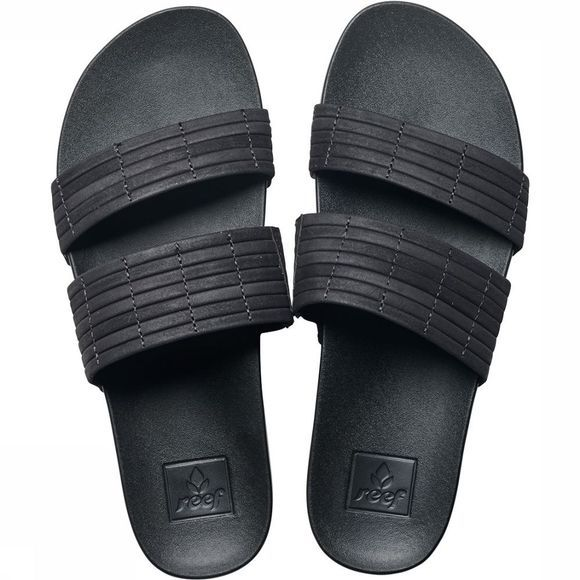 Reef Cushion Bounce Slide Slipper Dames Zwart