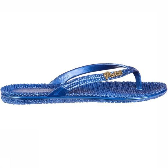 Protest Prot Stampy Slippers Dames Middenblauw
