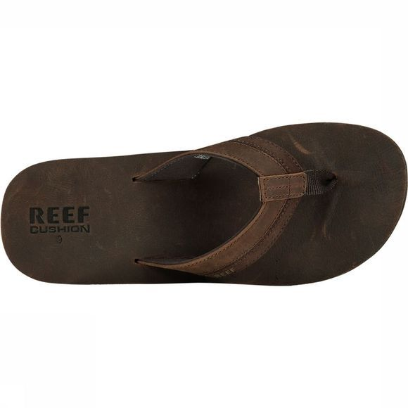 Reef Leather Contour Cushion Slipper Donkerbruin