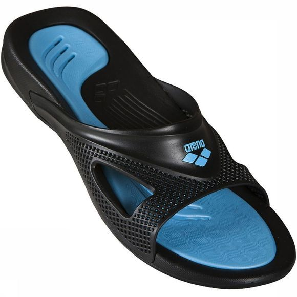 Arena Hydrofit Man Hook Slipper Zwart/Turkoois