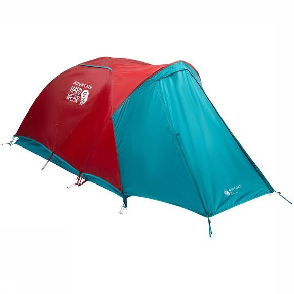 Mountain Hardwear Outpost 2 Tent Donkerrood/Middengroen