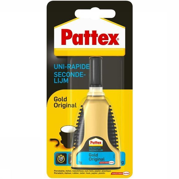 Pattex Secondelijm Gold Tube 3 Gram Transparant