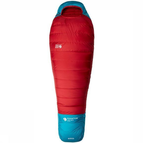 Mountain Hardwear Phantom Gore-Tex Infunium  0F/-18C Regular Slaapzak Donkerrood/Middengroen
