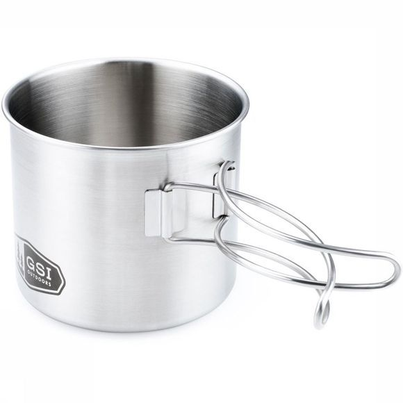 GSI Outdoors Glacier Stainless Mok Middengrijs