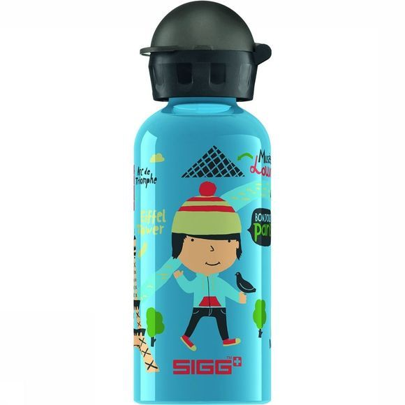 Sigg Travel Boy Paris 0,4L Drinkfles Blauw/Zwart