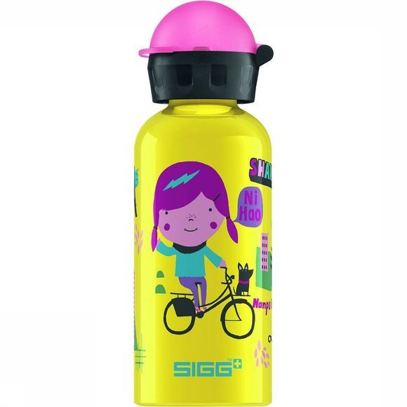 Sigg Travel Girl Shanghai 0,4L Drinkfles Geel/Middenroze