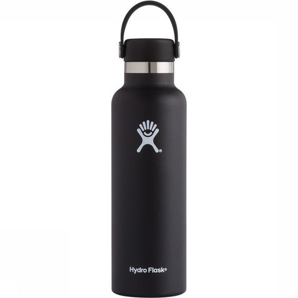 Hydro Flask Standard Mouth 0,6L Drinkfles Zwart