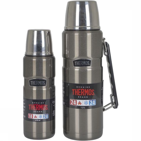 Thermos Isoleerfles King Thermax Middengrijs