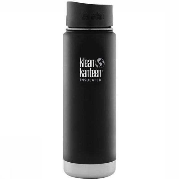 Klean Kanteen Wide Vacuum Insulated Café 0.6L Drinkfles Zwart
