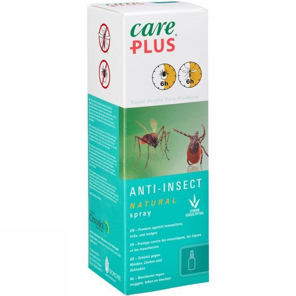 Care Plus Natural 100 ml Insectenwerende Spray Geen kleur