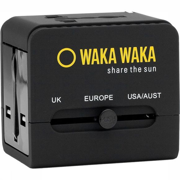 WakaWaka World Charger Zwart