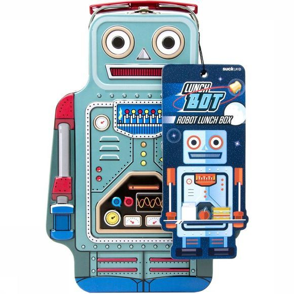 Suck UK Robot Lunchbox Blauw
