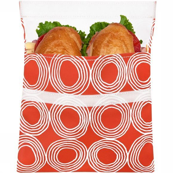 Lunchskins Big Bag Lunchzakje Oranje/Wit
