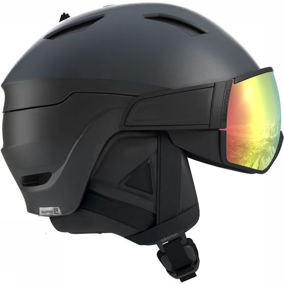 Salomon Driver + Photo Skihelm Zwart