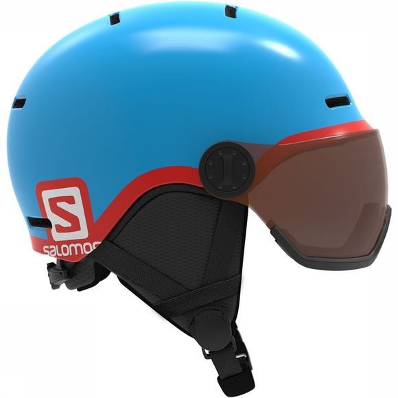 Salomon Grom Visor Helm Junior Blauw
