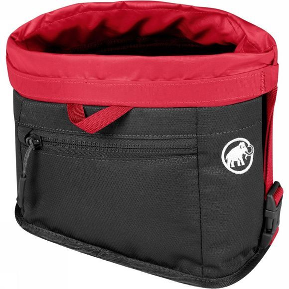 Mammut Boulder Chalk Bag Pofzak Zwart/Middenrood