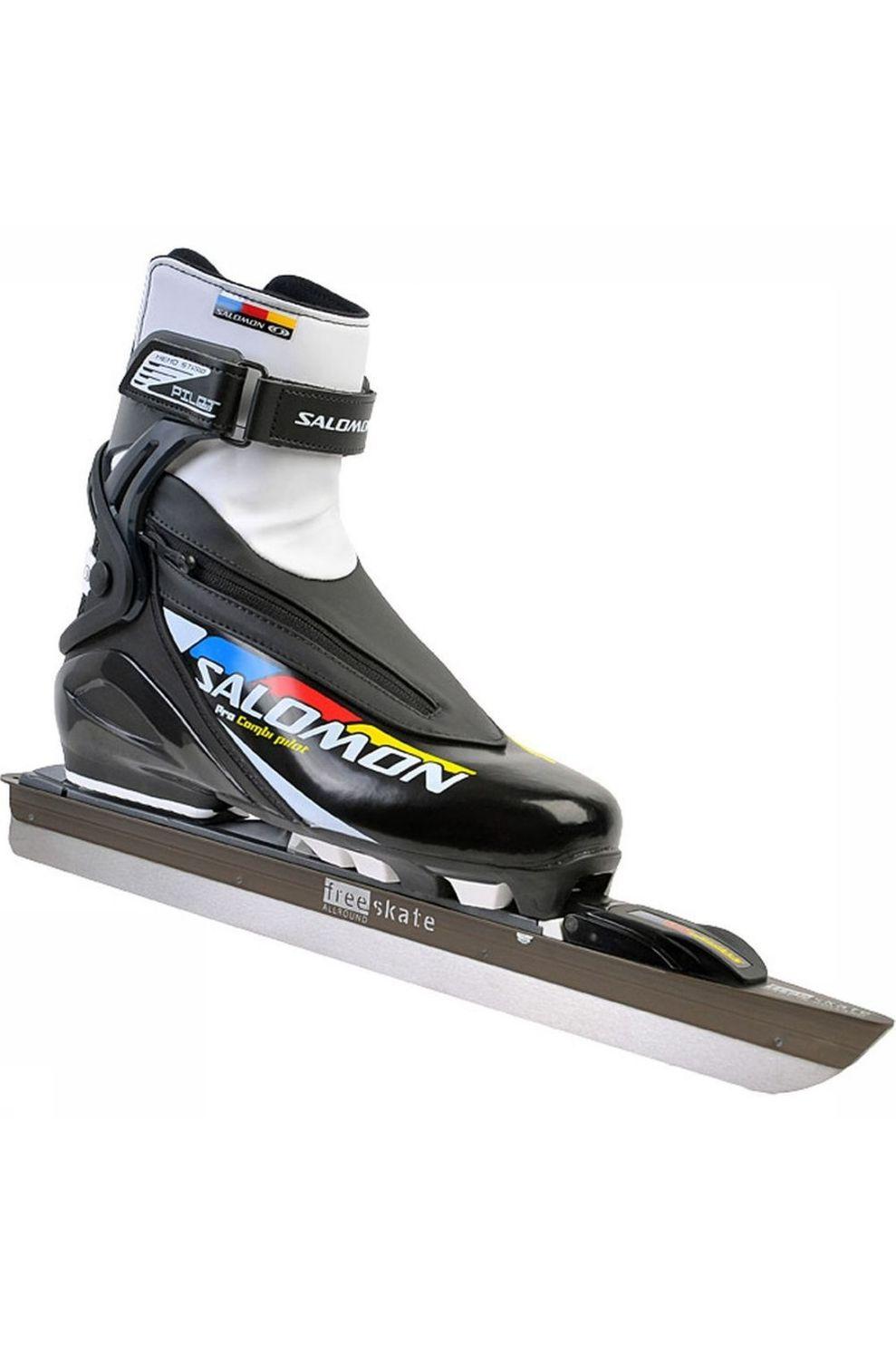Free-Skate Allround XL + Salomon Pro Combi Pilot Schaats XL Zwart/Wit