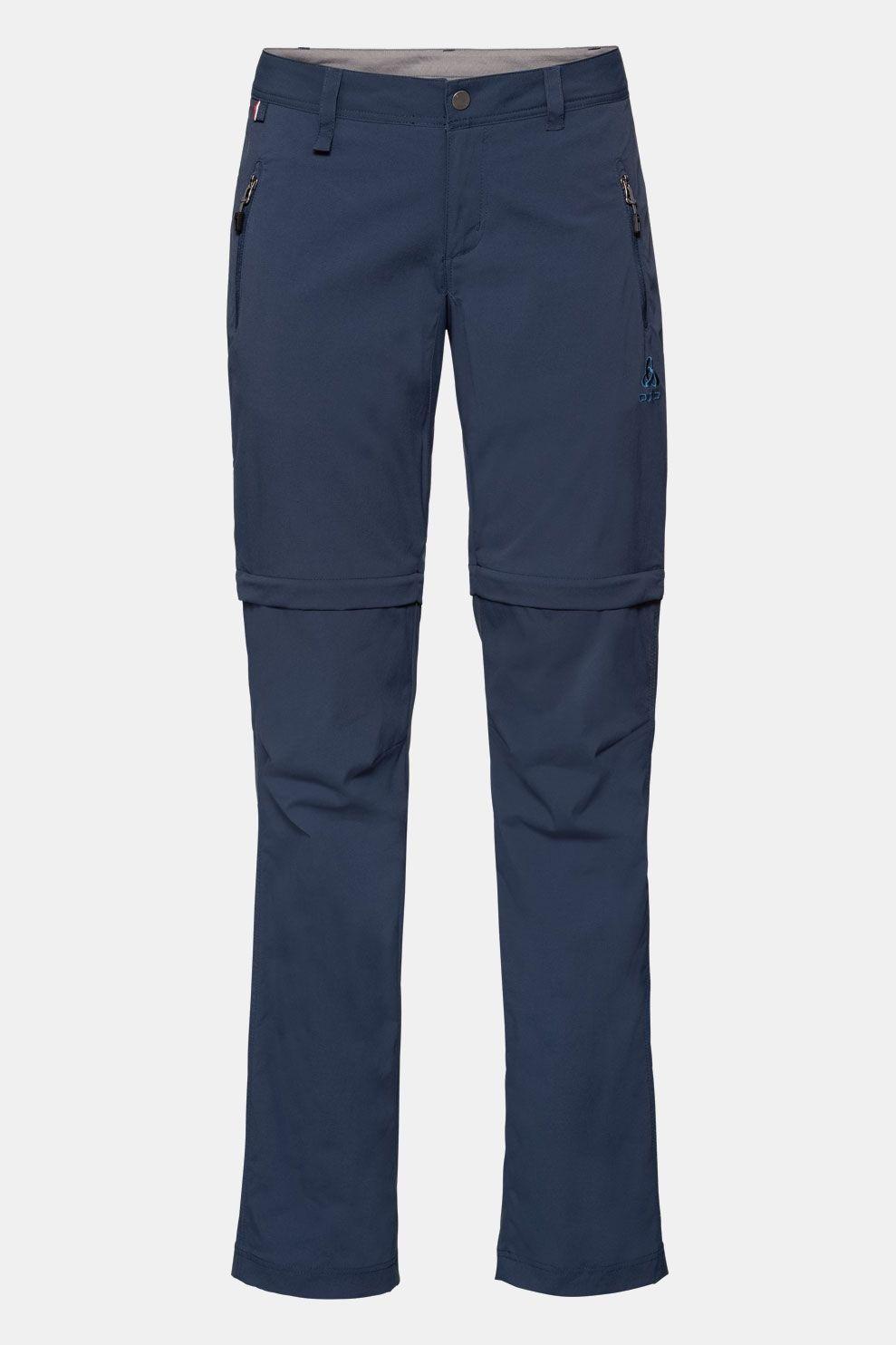 Odlo Afritsbare Wedgemount Broek Dames Donkerblauw Marineblauw