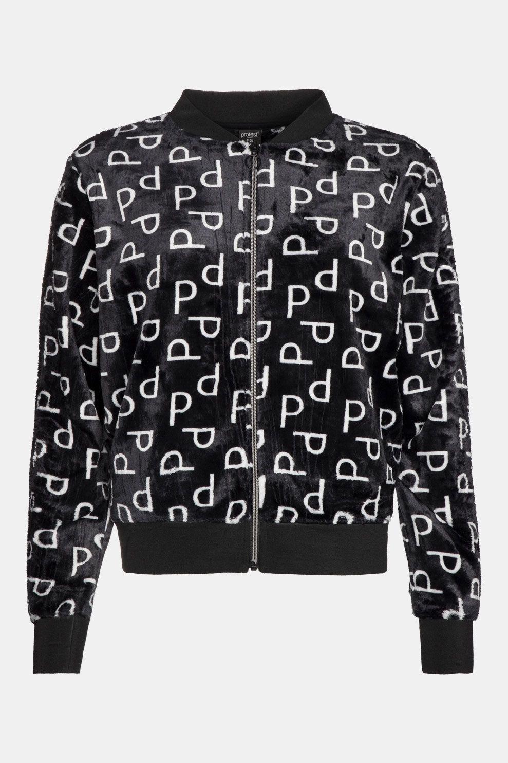 Protest Cozy Full Zip Vest Dames Zwart/Gebroken Wit