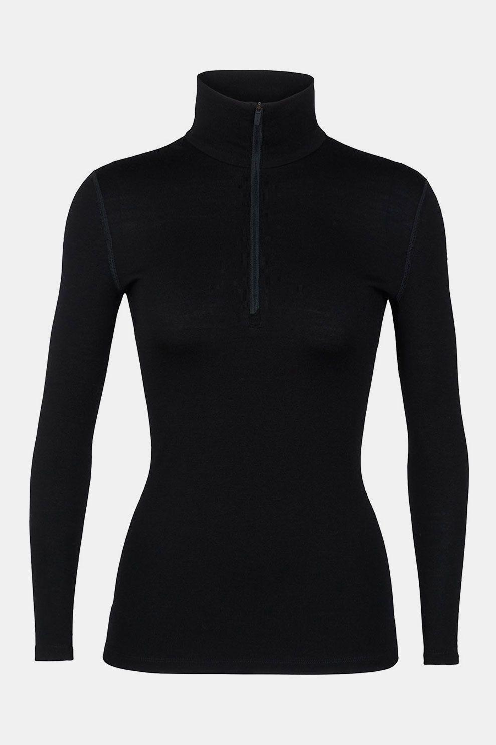 Icebreaker 260 Tech Half Zip Thermoshirt Dames Zwart