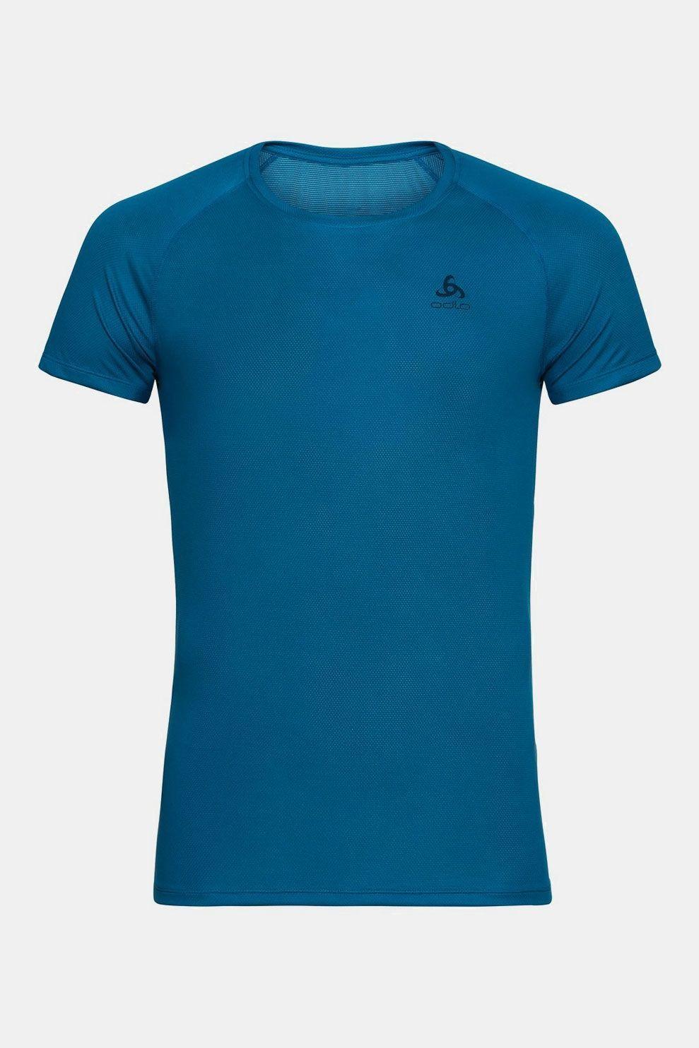 Odlo Active F-Dry Light Eco Shortsleeve Shirt Middenblauw
