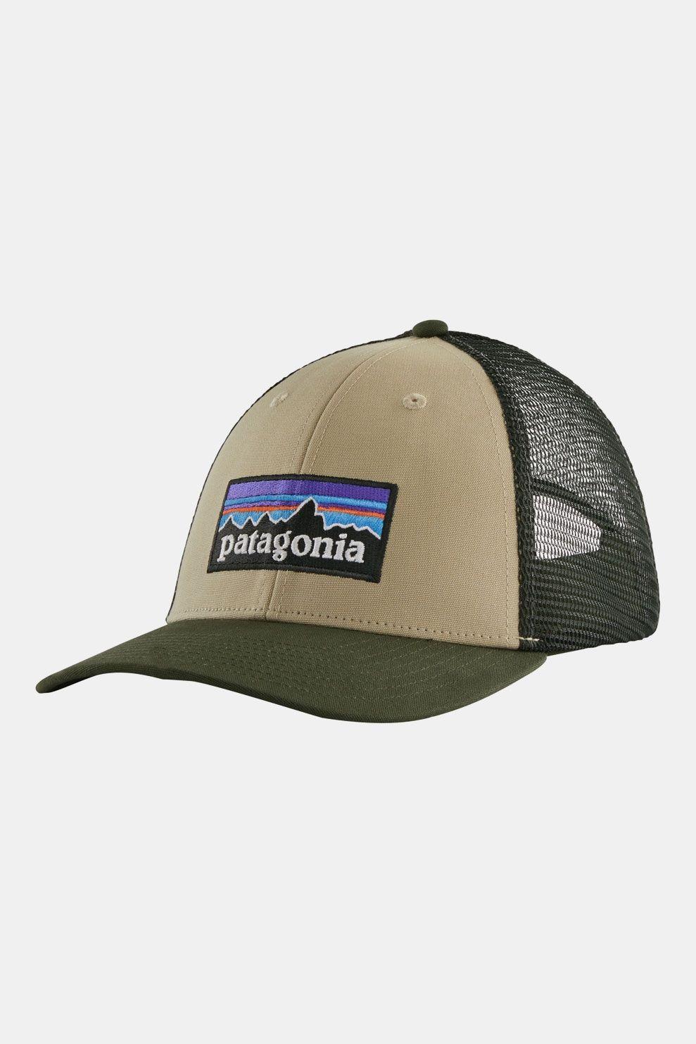 Patagonia P-6 Logo LoPro Trucker Pet Donkerkaki/Lichtkaki