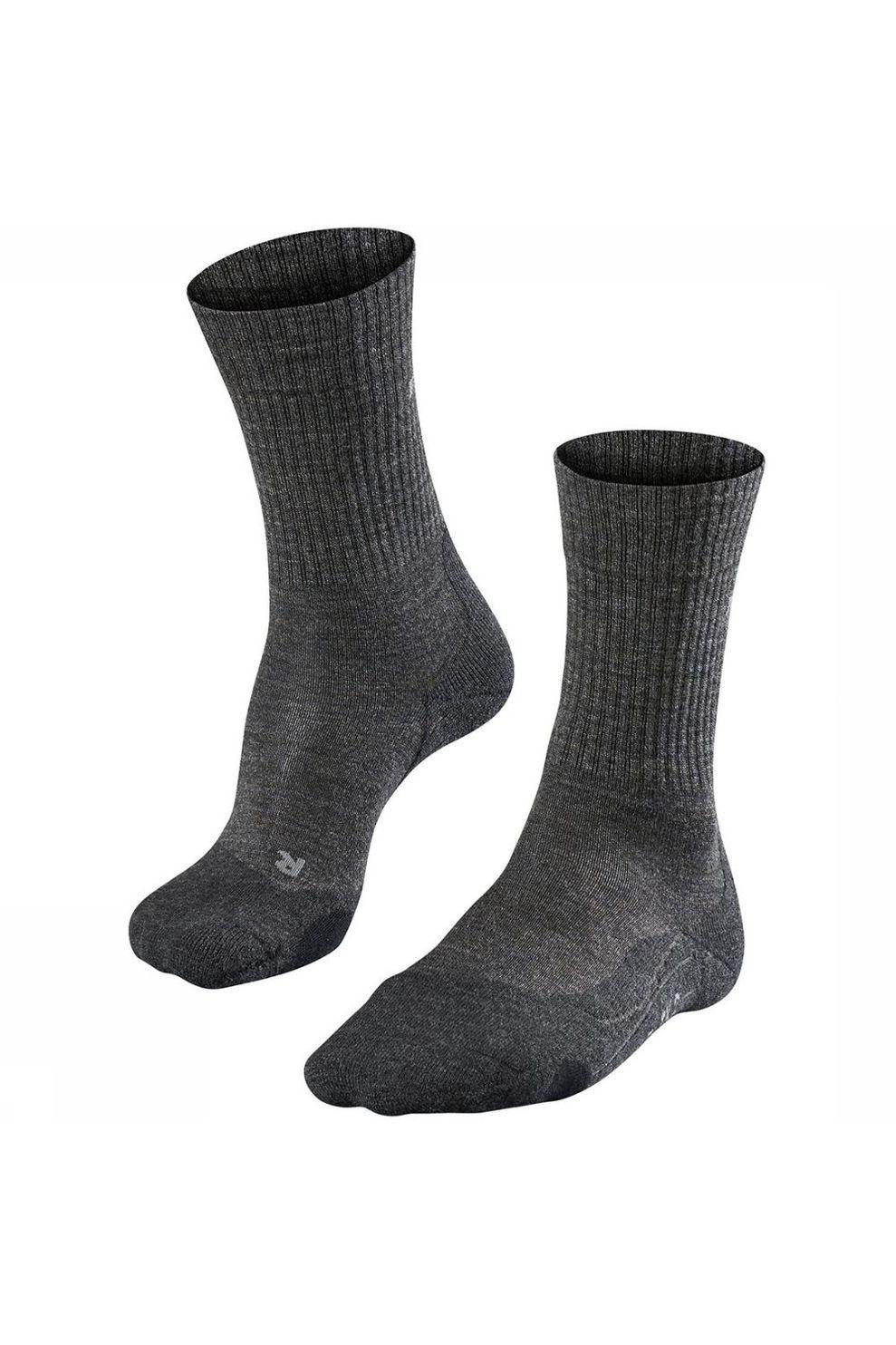 Falke TK2 Wool Sok Dames Donkergrijs/Middengrijs online kopen