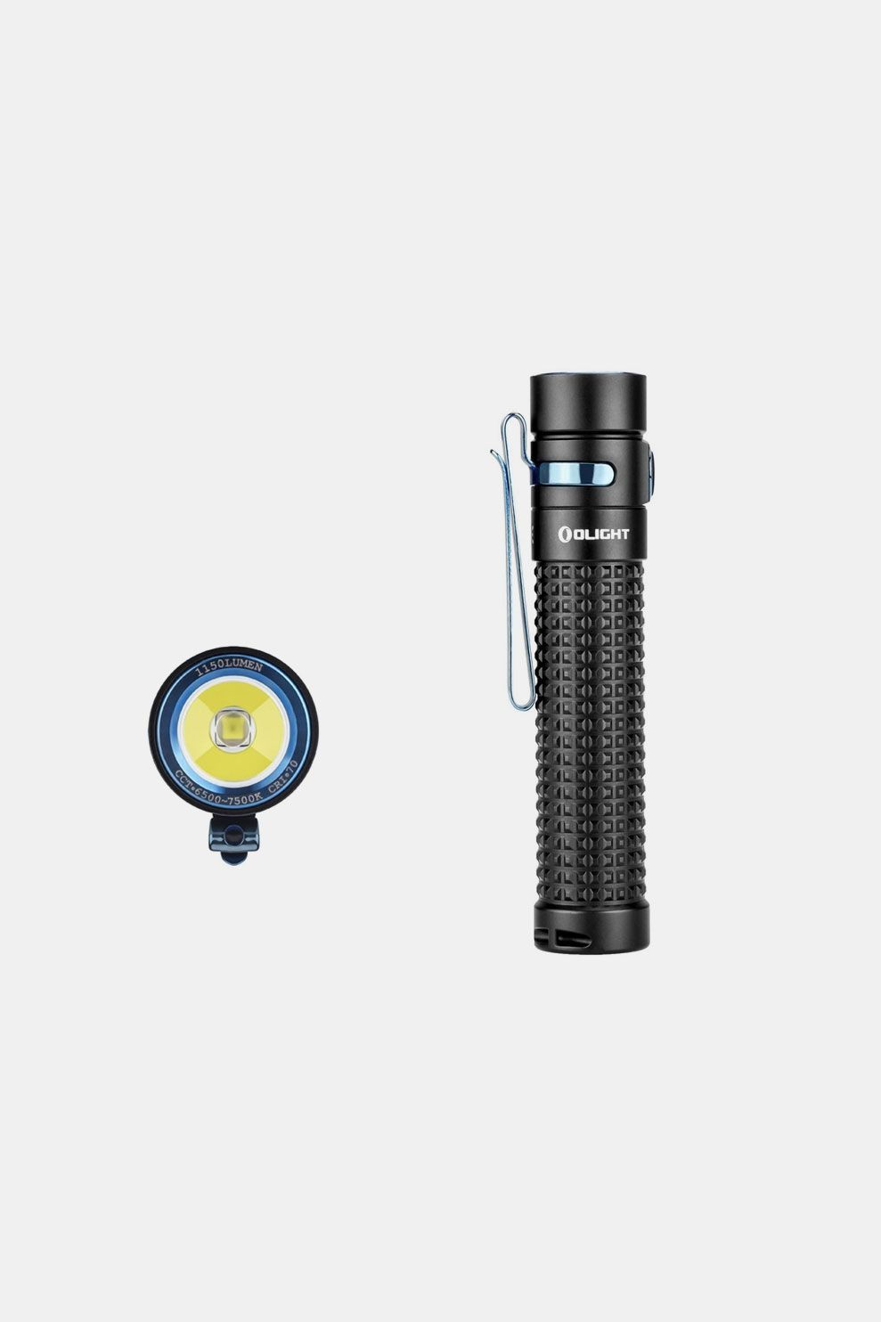 Olight S2R II Baton Rechargeable Zaklamp Zwart