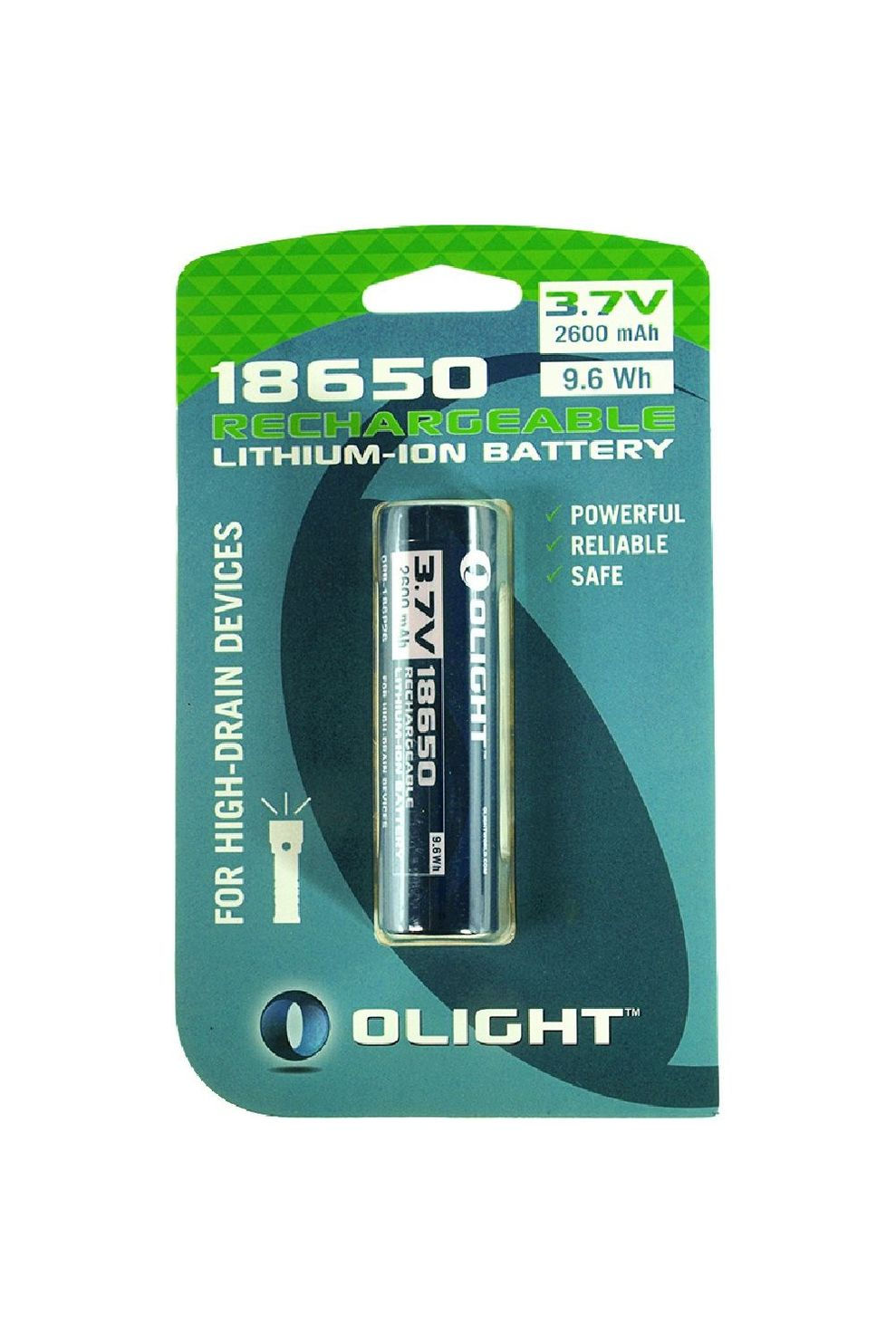 Olight 18650 2600MAH Batterij Blauw