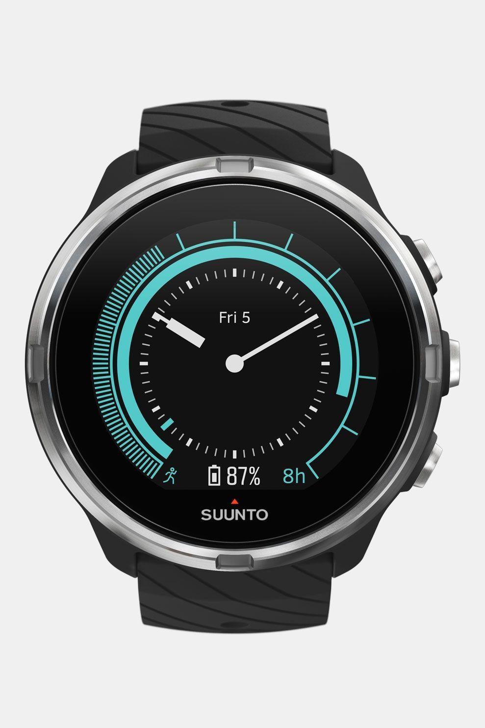 Suunto 9 Black Horloge Zwart